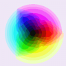 RGB Color Wheel (median cut 128 colors)