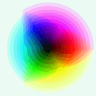 RGB Color Wheel (median cut 256 colors)