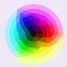 RGB Color Wheel (median cut 64 colors)