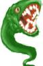 Giant evil snake