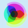 RGB Color Wheel (median cut 16 colors)