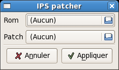 IPS patcher main window
