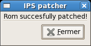 IPS patcher success window